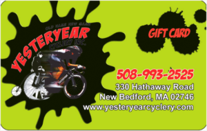 GIFT CARD, Yesteryear cyclery, New Beford Ma.